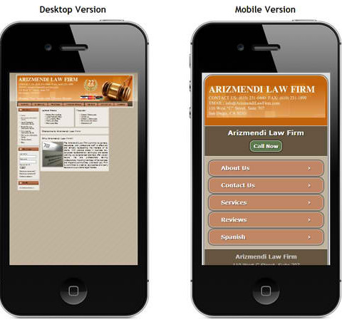 Arizmendi Mobile Site