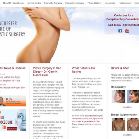 Manchester Clinic WordPress Site