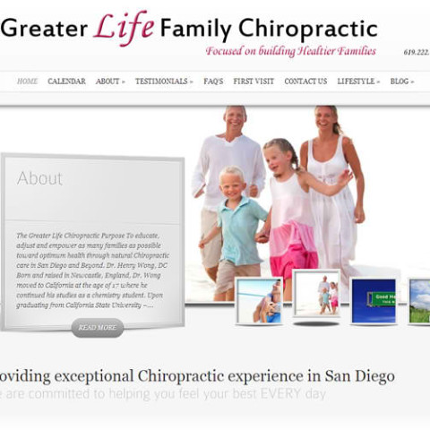 Greater Life Chiropractic WordPress Site