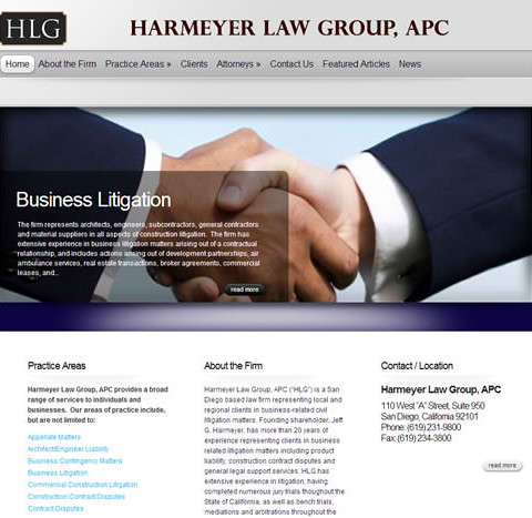Harmeyer Law WordPress Site