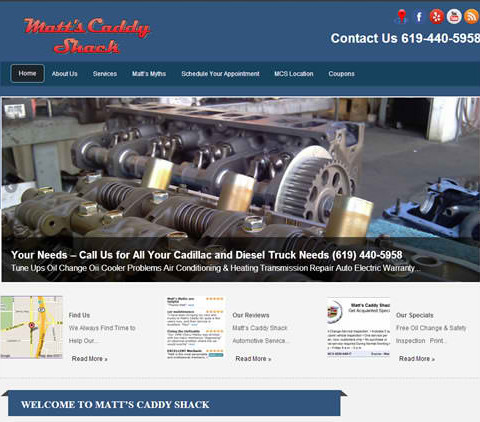 Matt's Caddy Shack WordPress Site