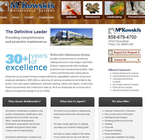 McKowski's WordPress & Mobile Site