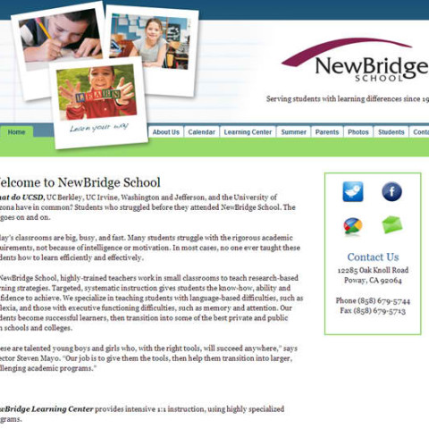 New Bridge School WordPress Site