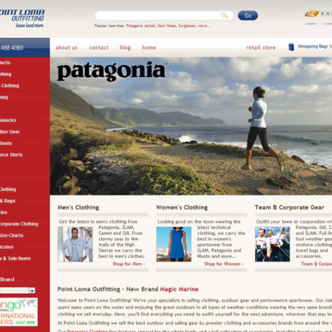 Point Loma Outfitting E-Commerce Store