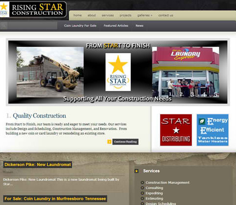 Rising Star Construction WordPress Site