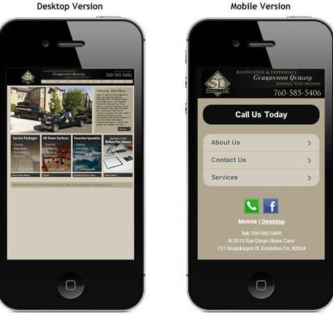 San Diego Stone Mobile Site