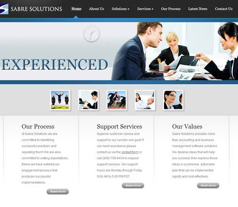 Sabre Solutions WordPress & Mobile Site