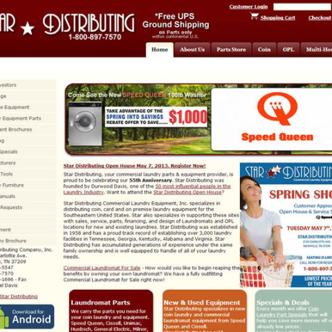 Star Distributing E-Commerce Site