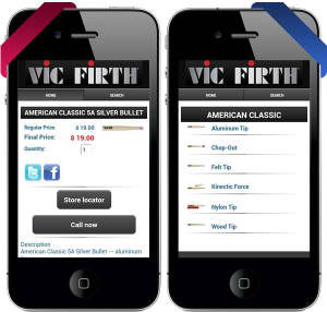 Vic Firth Mobile Catalog